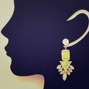 Noir Jewelry Faceted Clear Glass Drop Earrings